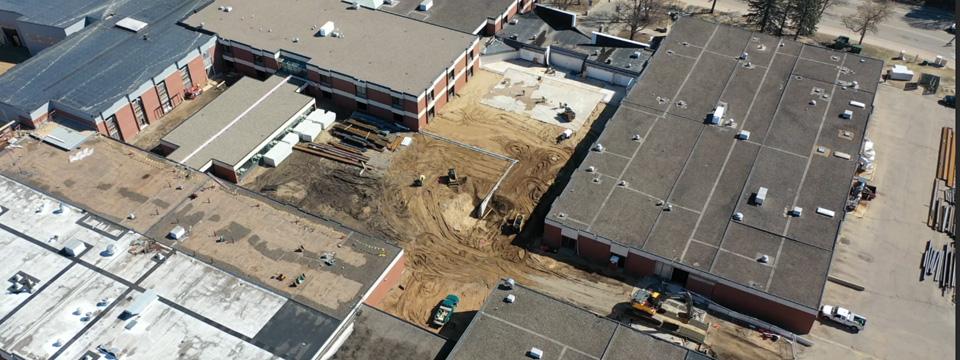 Widseth, Hy-Tec Construction Talk Progress at Brainerd High School